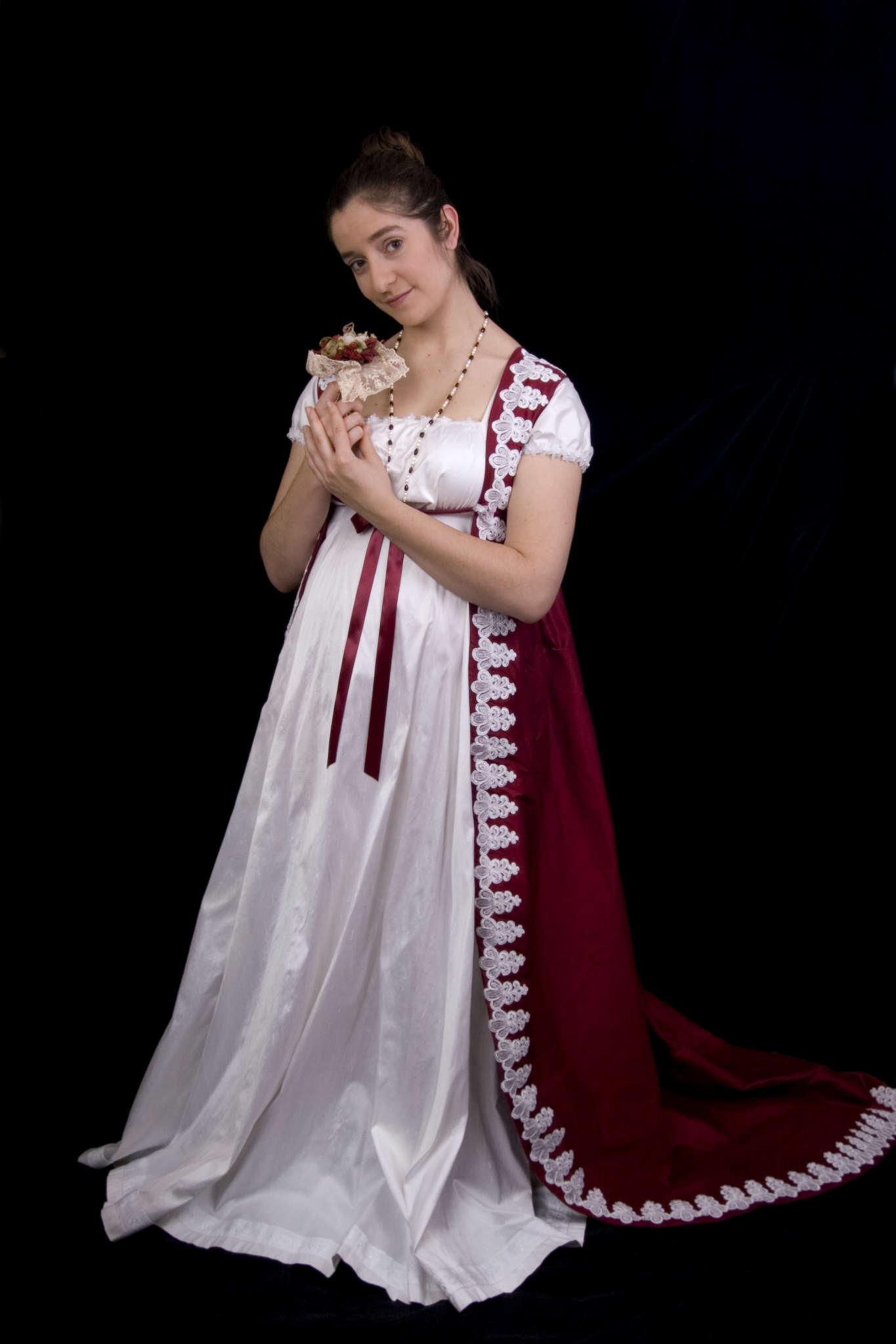 Regency wedding gown for Regency style wedding dress
